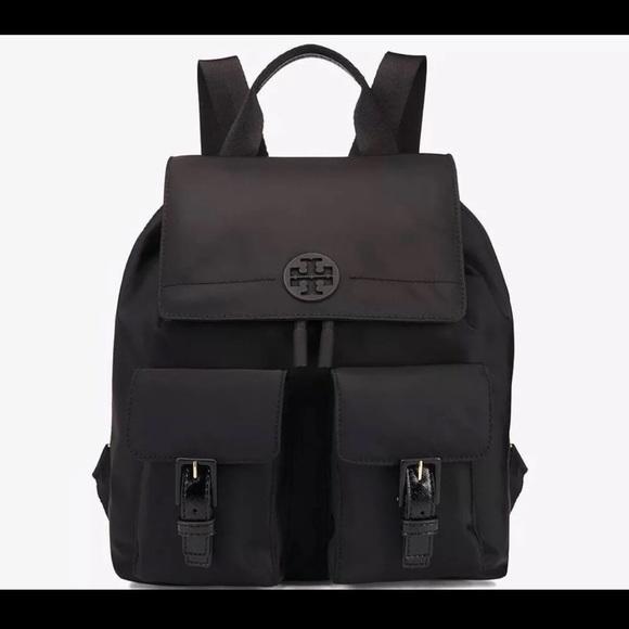 ee830f8a804 Tory Burch Bags | Tilda Nylon Flap Backpack | Poshmark